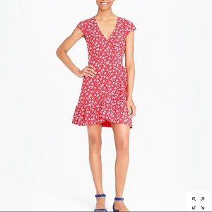 J.Crew Mercantile faux-wrap mini dress. NWT. SZ. 4